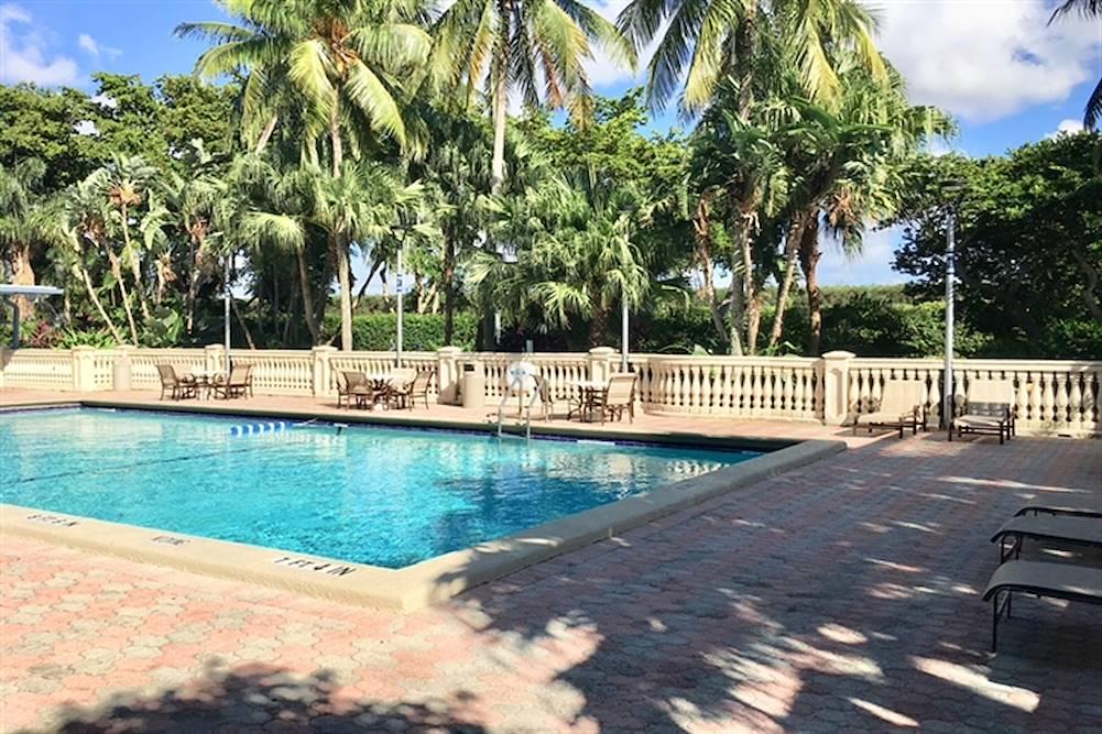 exterior lap pool